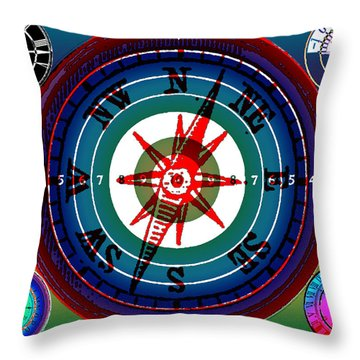 Hidden Dials Throw Pillow