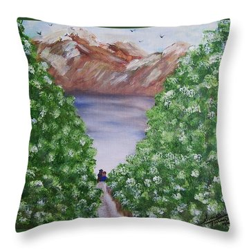 Hidden Escape Throw Pillow