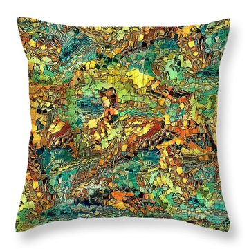 Hidden Figures By Rafi Talby Throw Pillow by Rafi Talby