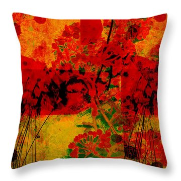 Hidden Garden Throw Pillow by Ann Powell