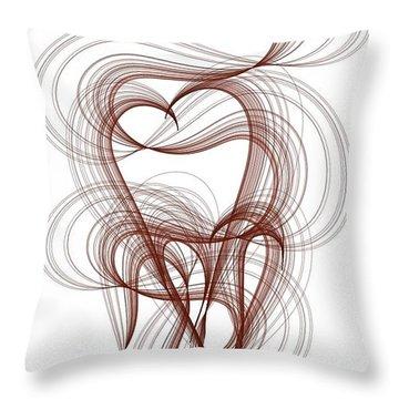 Hidden Hearts Throw Pillow