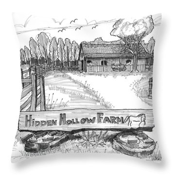 Hidden Hollow Farm 1 Throw Pillow