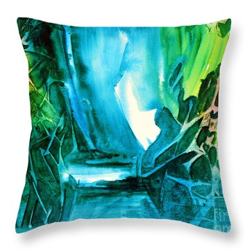 Throw Pillow featuring the painting Hidden In The Stream by Allison Ashton