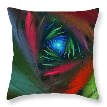 Hidden Jungle Plant-abstract Fractal Art Throw Pillow