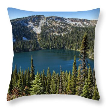 Hidden Lake In Idaho Throw Pillow