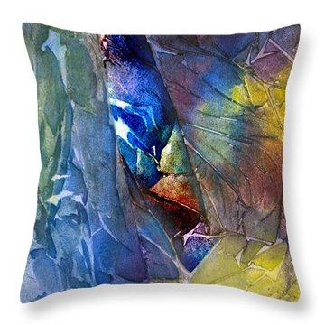 Throw Pillow featuring the painting Hidden Light by Allison Ashton