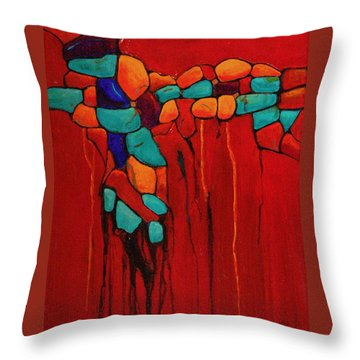 Hidden Nuggets Throw Pillow by Nancy Jolley