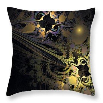 Throw Pillow featuring the digital art Hidden Pearls by Melissa Messick