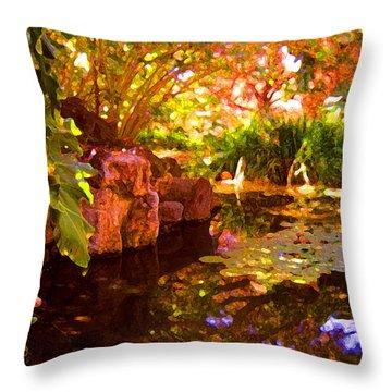 Hidden Pond Throw Pillow by Amy Vangsgard