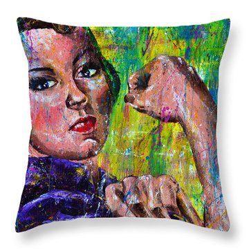 Hidden Strength Throw Pillow by Connie Mobley Medina