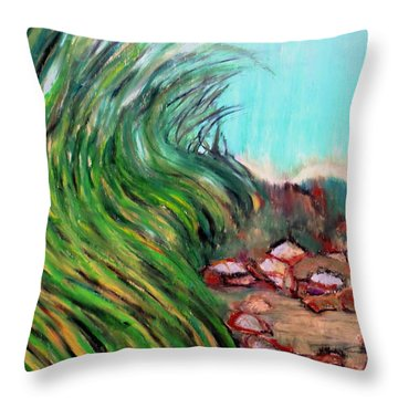 Hidden Tide Throw Pillow