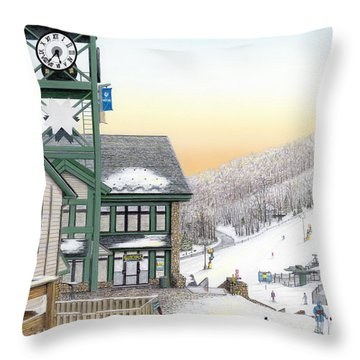 Hidden Valley Ski Resort Throw Pillow by Albert Puskaric