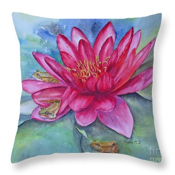 Throw Pillow featuring the painting Hide And Seek by Beatrice Cloake
