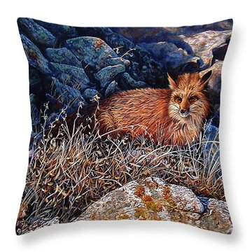 Throw Pillow featuring the painting Hide And Seek by Craig T Burgwardt