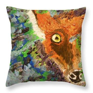 Hide And Seek Throw Pillow by Harold Greer