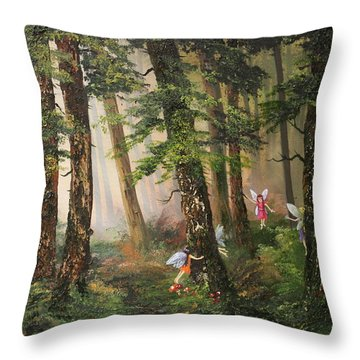 Hide N Seek Throw Pillow