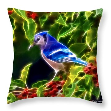 Hiding In The Berries Throw Pillow by Stephen Younts