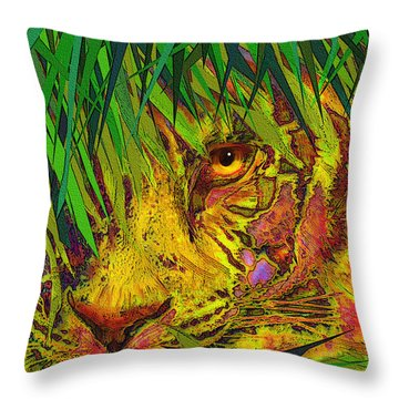 Hiding Throw Pillow by Jane Schnetlage