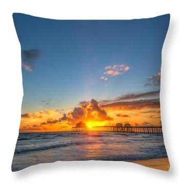Hiding Sunset Throw Pillow