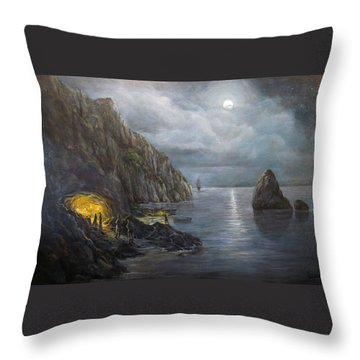 Hiding Treasure Throw Pillow by Donna Tucker
