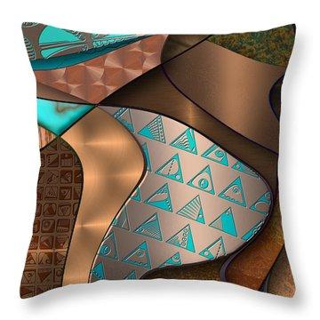 Hieroquoise Cupriglyphs Throw Pillow