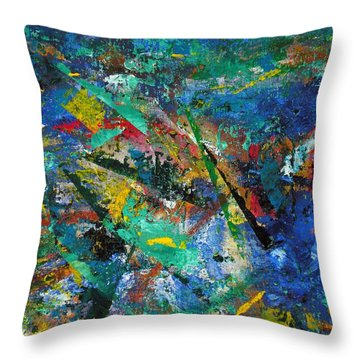Higgs Field Activity -or- Paint Throw Pillow by Scott Haley