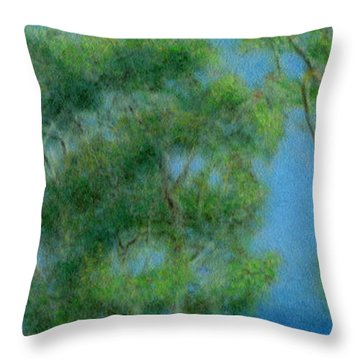 High Above Na Pali 2 Throw Pillow by Kenneth Grzesik