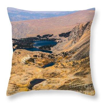 High Altitude Lakes Throw Pillow by Sue Smith