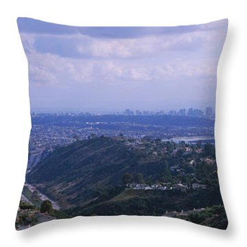High Angle View Of A Bridge, Coronado Throw Pillow