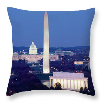 High Angle View Of A City, Washington Throw Pillow