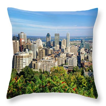 High Angle View Of A Cityscape, Parc Throw Pillow