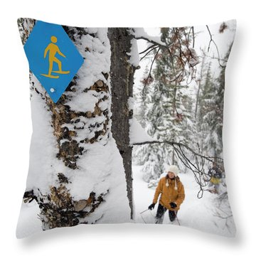 High Angle View Of A Mid Adult Woman Throw Pillow