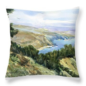 High Coastal View Throw Pillow