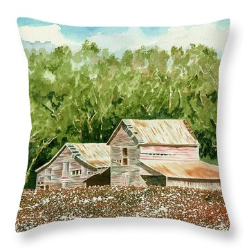 High Cotton Throw Pillow