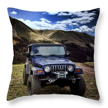 High Country Adventure Throw Pillow