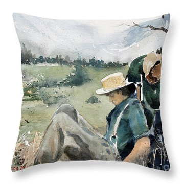 High Country Rest Stop Throw Pillow