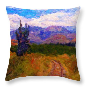 High Country Tracks Throw Pillow