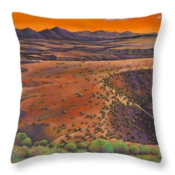 High Desert Evening Throw Pillow