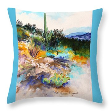 Throw Pillow featuring the painting High Desert Scene 2 by M Diane Bonaparte