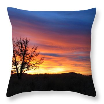 Throw Pillow featuring the photograph High Desert Sunset by Kevin Desrosiers