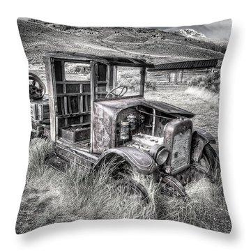 High Desert Truck In Montana Throw Pillow