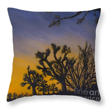 Throw Pillow featuring the painting High Desert Twilight by Suzette Kallen
