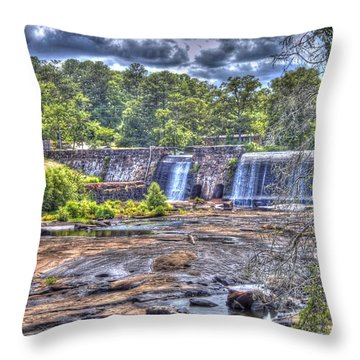 Throw Pillow featuring the photograph High Falls Dam by Donald Williams