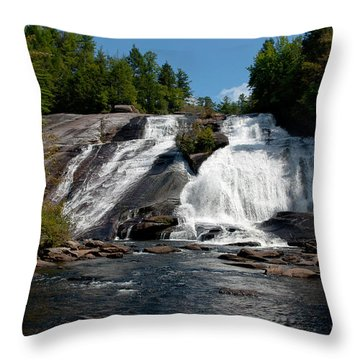 Throw Pillow featuring the photograph High Falls North Carolina by Charles Beeler