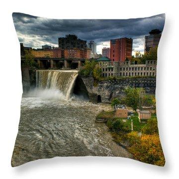 High Falls Throw Pillow by Tim Buisman