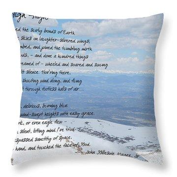 High Flight Throw Pillow by Paulette B Wright