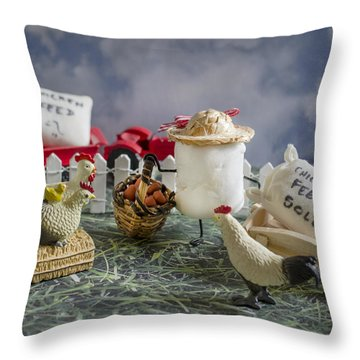 High Fructose Farming Throw Pillow by Heather Applegate
