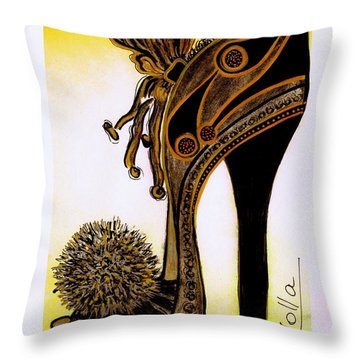 High Heel Heaven Throw Pillow