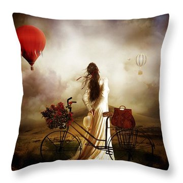 High Hopes Throw Pillow by Shanina Conway