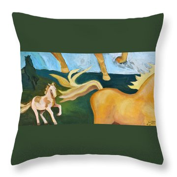 High Horse Throw Pillow